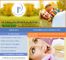 Dolton Dentist - November 2012 Newsletter