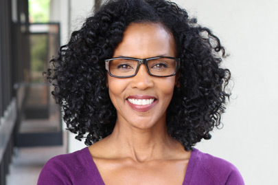 African american woman wearing glasses at work