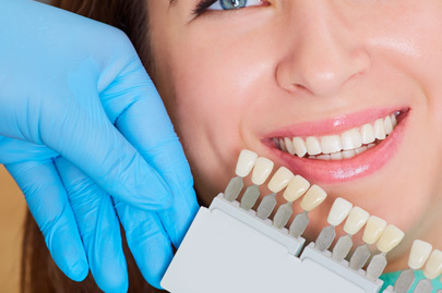 Close-up of women with beautiful smile dentist. Dental care concept