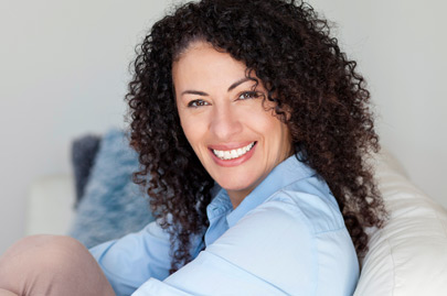 Mature Ethnic Woman Smiling