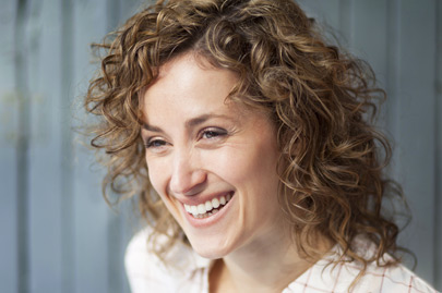 Portrait Of A Pretty Happy Woman