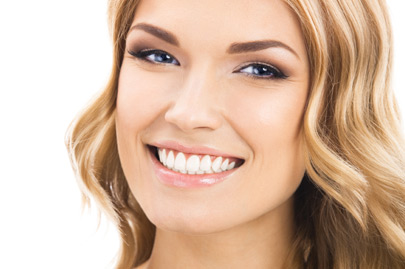 Young cheerful smiling woman